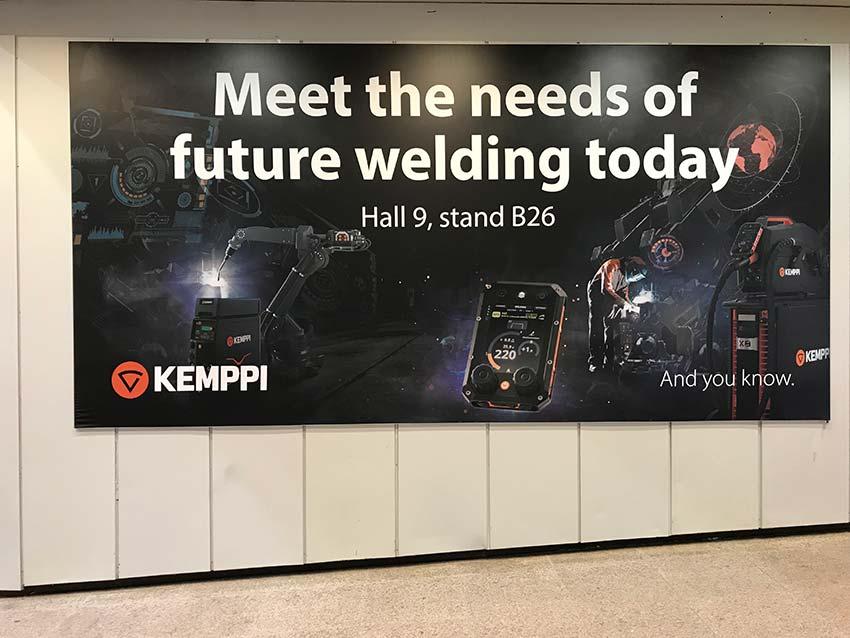 Kemppi-Plakat: Meet the needs of future welding today