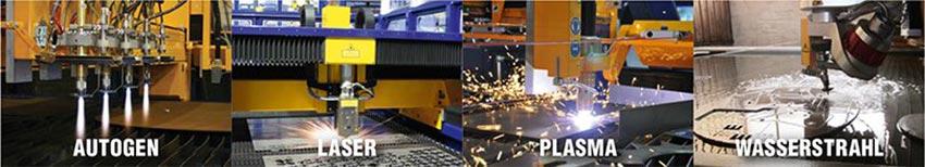 Schneidtechnologien: Autogen - Laser - Plasma - Wasserstrahl